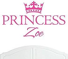 Crown Princess Zoe Large Wall Sticker / Vinyl