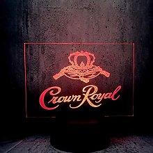 Crown Royal Led Lamp 3D Letter Totem Night Light