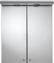 Croydex 2 Door Illuminated Bathroom Cabinet - White