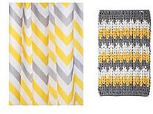 Croydex Chevron Shower Curtain And Bathmat Set