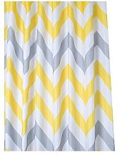 Croydex Chevron Textile Shower Curtain &Ndash;