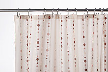 Croydex Dotty Textile Shower Curtain 180 x 180 cm