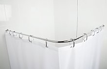 Croydex Fineline S Steel Shower Curtain Rod &