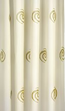 Croydex Gold Swirls Textile Shower Curtain