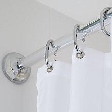 Croydex Modular Shower Curtain Rail Kit Chrome -