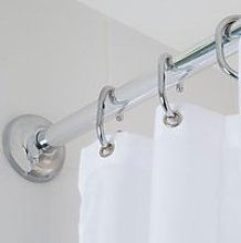Croydex Modular Shower Curtain Rail Kit Chrome -