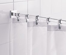 Croydex Square Shower Curtain Rod and Rings -