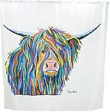 Croydex Steven Brown Angus Mcmoo Shower Curtain