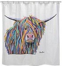 Croydex Steven Brown Angus Mcmoo Shower Curtain