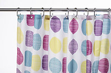 Croydex Textured Dots Textile Shower Curtain 180 x