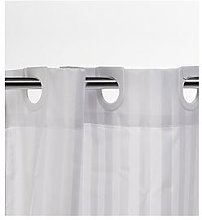 Croydex White Regency Stripe Hook N Hang Shower