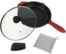 Crucible Cookware 12-Inch Cast Iron Skillet Set