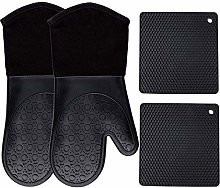 Crucible Cookware Silicone Oven Mitts and