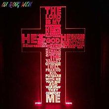 Crucifix Cross Led Night Light Psalm 23 The Lord