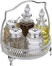 Cruet Set with Special Finish That Never Needs