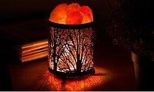 Crush Himalayan Salt Lamp: Forest Black