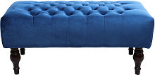 Crushed Velvet Chesterfield Buttoned Footstool
