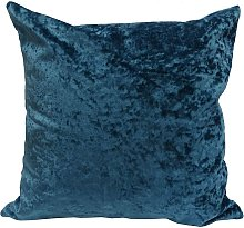 Crushed Velvet Cushion Cover Peacock Blue Bed Sofa