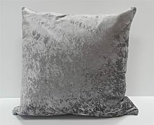 Crushed Velvet Cushion Cover Pewter Grey Bed Sofa