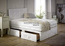 Crushed Velvet Divan Bed Set With Matching Memory