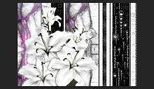 Crying Lilies on Purple 2.10m x 300cm Wallpaper