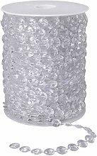 Crystal Bead Chain Acrylic Transparent Crystal