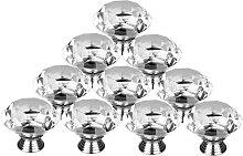 Crystal Cabinet Knob, 10 Pcs 30mm Cabinet Drawer