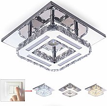 Crystal Ceiling Light Flush Mount Modern Luxury
