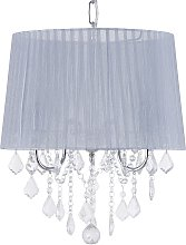 Crystal Chandelier Light Grey EVANS