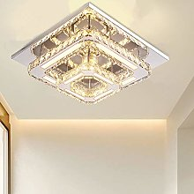 Crystal Chandelier Lighting, 2-Square LED Flush