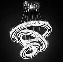 Crystal Chandelier Lighting, 3 Ring LED Modern