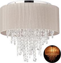 Crystal Chandelier, Organza Ceiling Lamp, G9