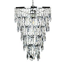 Crystal Chandelier Silver ENTWASH