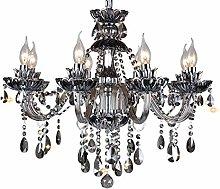 Crystal Chandeliers Smokey-Gray Glass Crystal