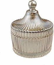 Crystal Diamond Faceted Jar with Crystal Lid,