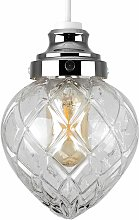 Crystal Effect Glass Non Electric Ceiling Pendant