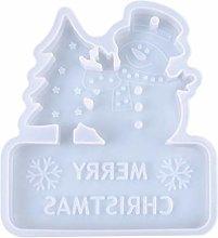 Crystal Epoxy Resin Mold Christmas Listed Pendant