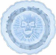 Crystal Epoxy Resin Mold Skull Ashtray Casting
