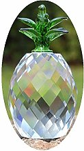 Crystal Glass Block Pineapple Figurine Ornaments