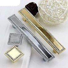 Crystal Knob Handle Silver Gold Glass Drawer