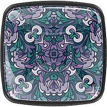 Crystal Knobs Black Drawer Pulls Purple Mandala