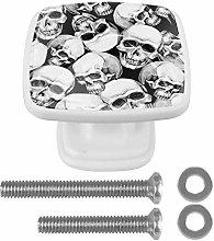 Crystal Knobs White Drawer Knob Black White Skull