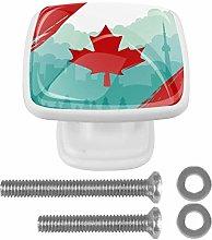 Crystal Knobs White Drawer Knob Canada Maple Leaf