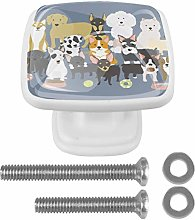 Crystal Knobs White Drawer Knob Cute Dogs Puppies