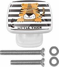 Crystal Knobs White Drawer Knob cute Tiger Stripe