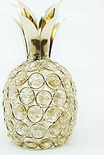 Crystal Pineapple Ornament, Gold Artificial Fruit