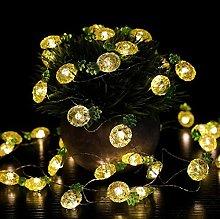 Crystal Pineapple String Lights 14ft 40 LED Fairy