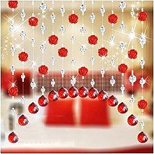 Crystal Rose Bead Curtain Decor SOMESUN Glass
