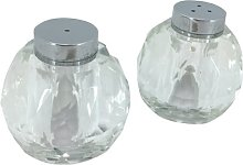 Crystal Salt and Pepper Shaker Set Aulica