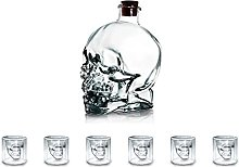 Crystal Skull Glass Wine Glass Cup and Wine